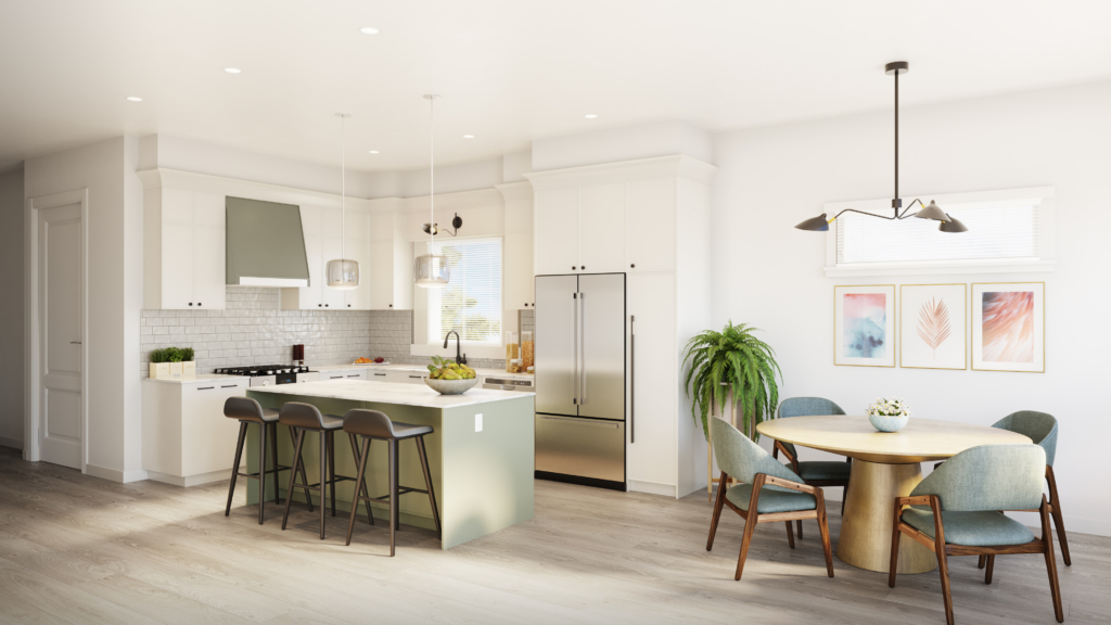 Rendering - Kitchen - Light Colour Scheme